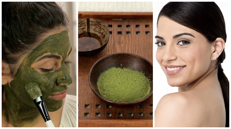 masks with green tea